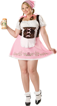 Womens Fetching Fraulein Plus Size Costume