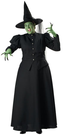 Womens Plus Wicked Witch Elite Costume