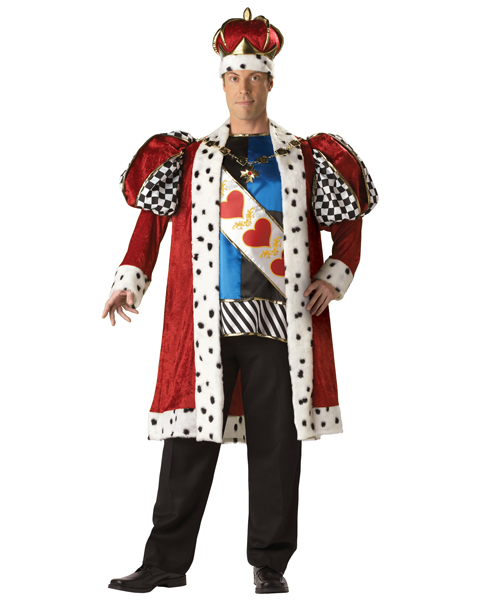Plus Size Elite King of Hearts Costume for Adult