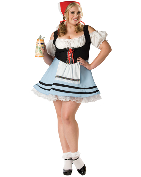 Elite Womens Plus Oktoberfest Girl Costume