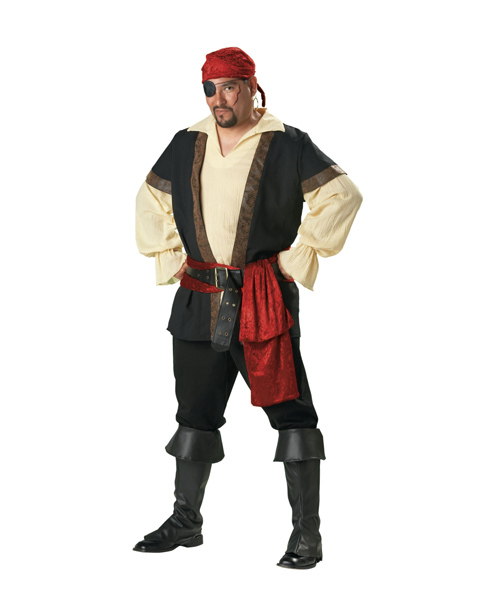 Adult Plus Pirate Premier Costume