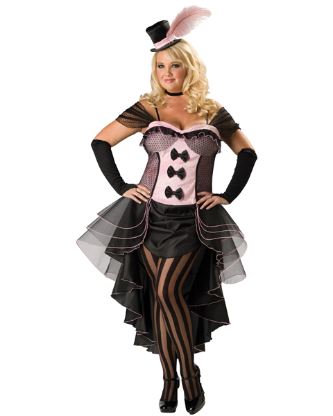 Premier Womens Plus Burlesque Babe Costume