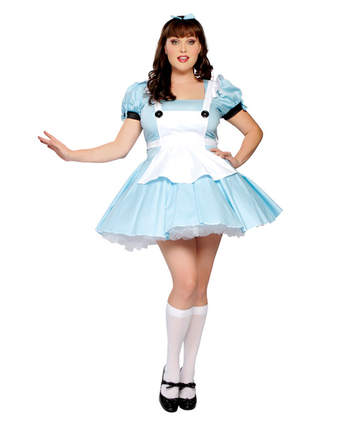 Plus Size Adult Sexy Alice in Wonderland Costume