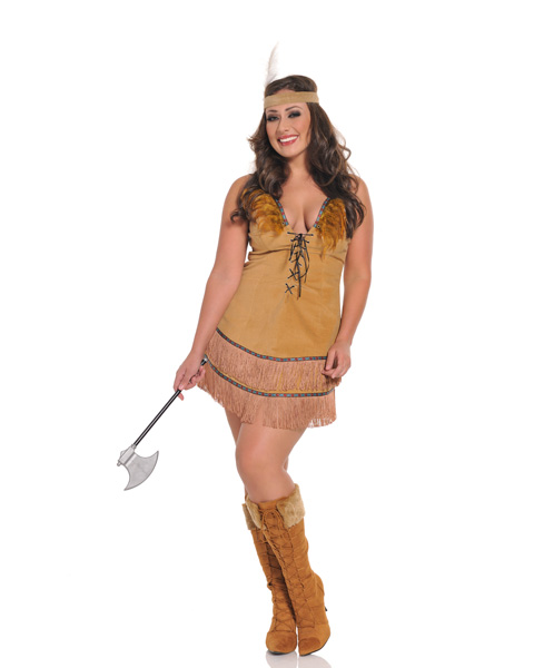 Womens Sexy Tribal Indian Princess Costume Plus Size