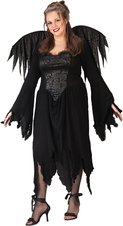 Black Rose Fairy Plus Size Adult Costume
