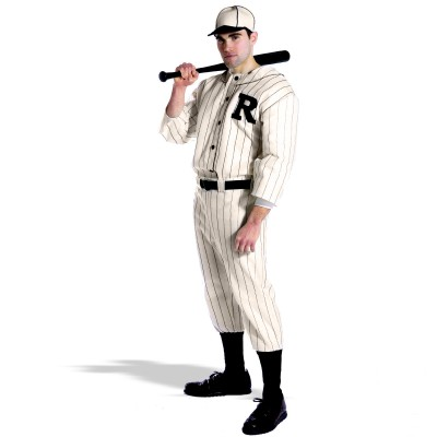Old Tyme Baseball Player Adult Plus Size Costume