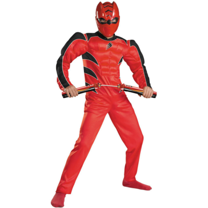Power Rangers Jungle Fury Red Ranger Muscle Child Costume