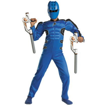 Power Rangers Jungle Fury Blue Ranger Muscle Child Costume