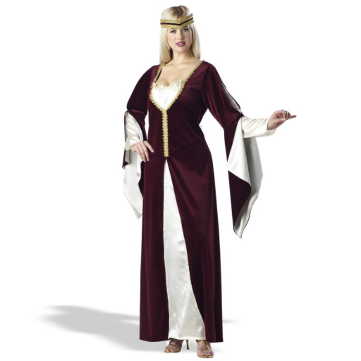 Regal Princess Burgundy Plus Adult Costume