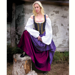 Lock-Lace Bodice (Navy) Renaissance Collection Adult