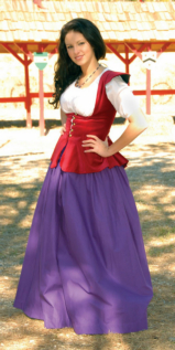 Rouge Cotton Velveteen Bodice Renaissance Collection Costume