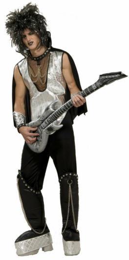 80s Rock On! Adult Costume - Click Image to Close