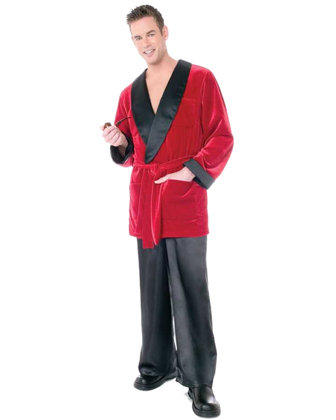 Mens Plus Size Hefs Smoking Costume