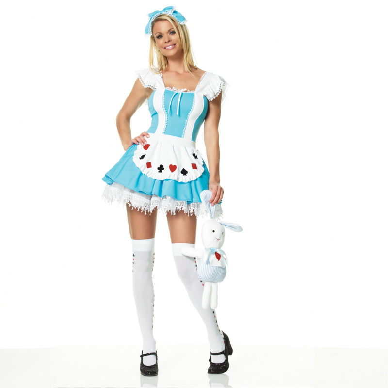 Alice Wonder Place Dress Adult Costume