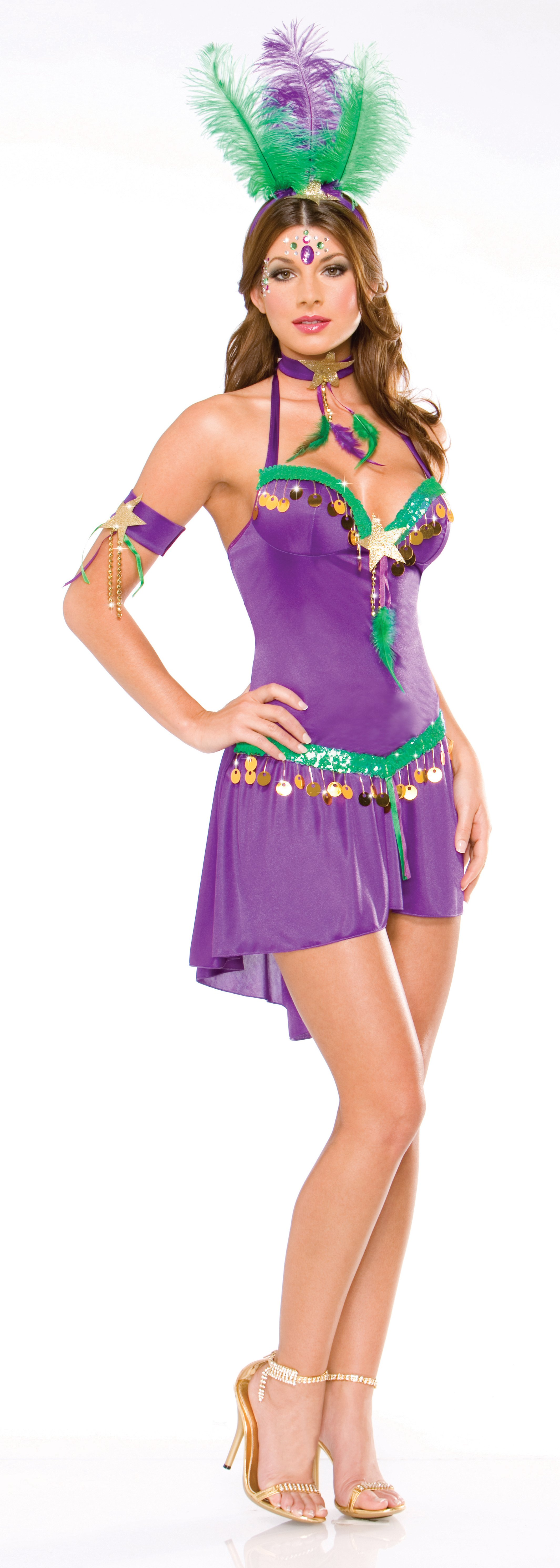 Sexy Mardi Gras Queen Adult Costume