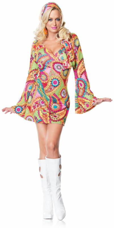 Hippie Chick Dress Adult Costume