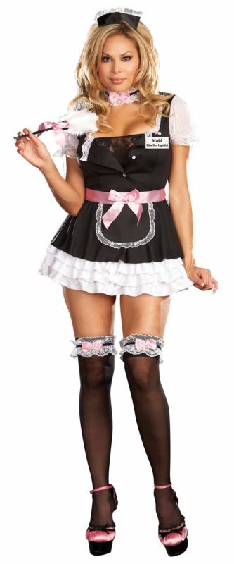 French Maid Miss Dee Lightful Plus Adult Costume