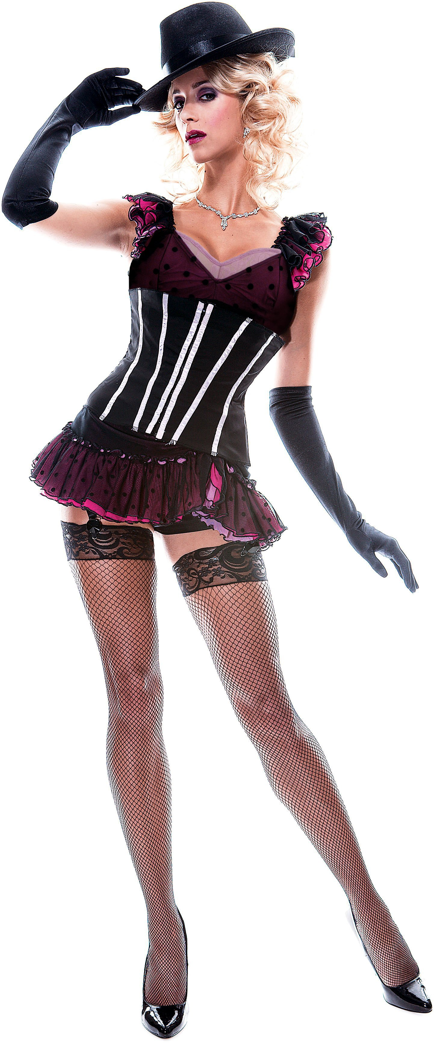 French Kiss Burlesque Dancer Adult Costume