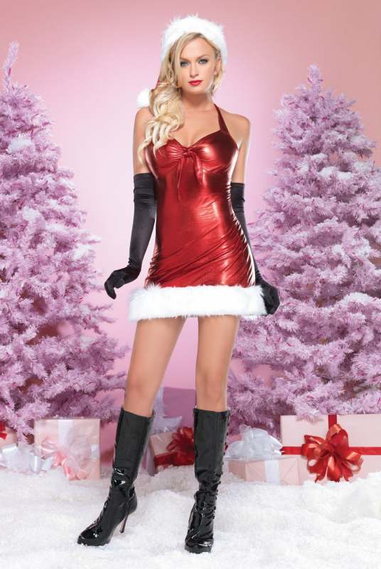 Holiday Hottie (Red) Adult Costume