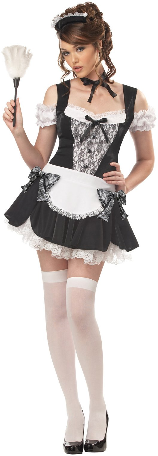 French Kiss Maid Plus Adult Costume