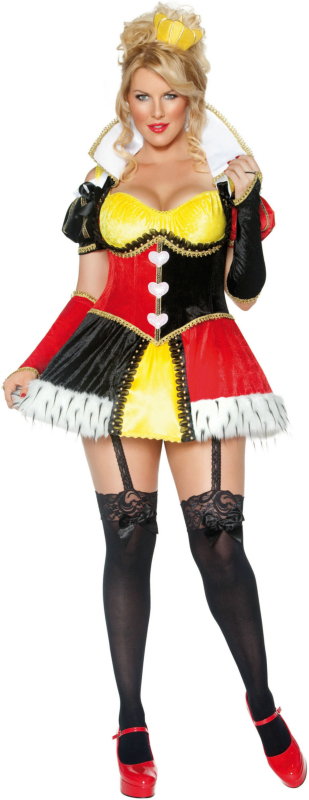 Whimsical Queen of Hearts Adult Plus Costume