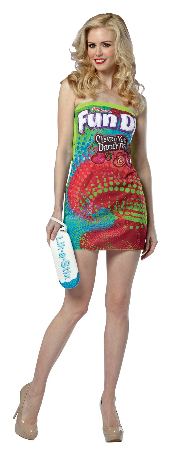 Stylish Fun Dip Strapless Dress Adult Costume