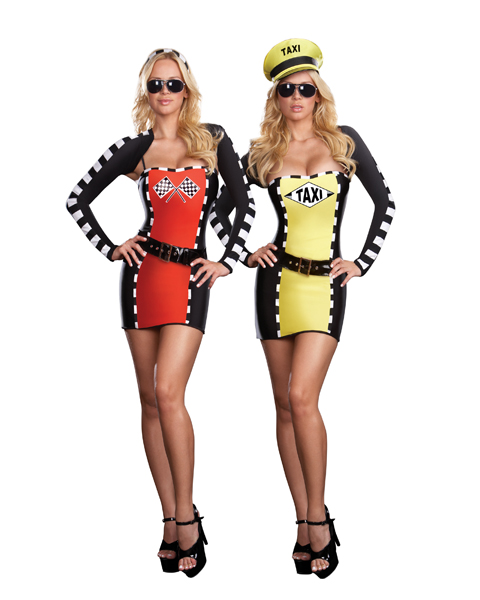 Womans Sexy Drive Me Crazy Reversible Costume