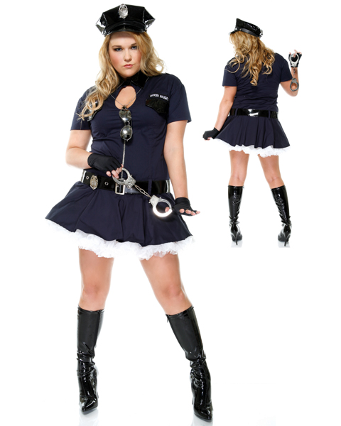 Sexy Womans Plus Size Police Playmate Costume