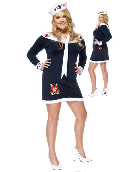 Sexy Womans Plus Size Beloved Sailor Costume