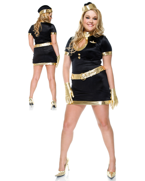Sexy Womans Plus Size Fabulous Flight Girl Costume