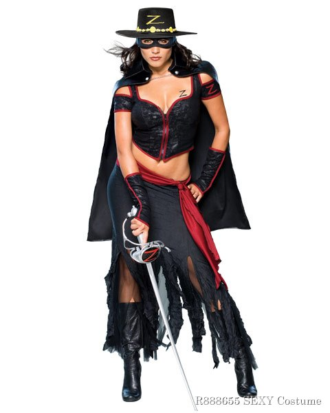 Womens Lady Zorro Sexy Costume