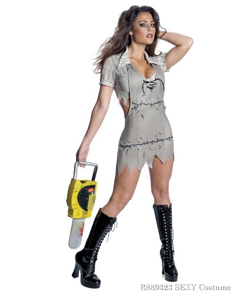 Sexy Texas Chainsaw Massacre Miss Leatherface Costume