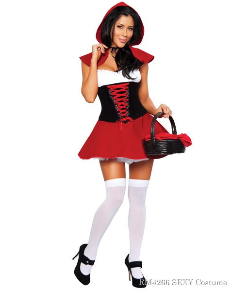 Sexy Red Hot Riding Hood Women's Costume