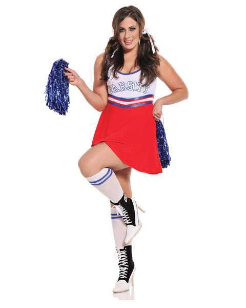 Womens Team Captain Sexy Cheer Plus Size Costume