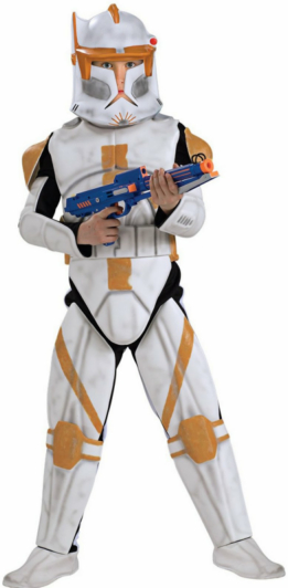 Star Wars Animated Deluxe Clone Trooper Commander Cody Child Cos