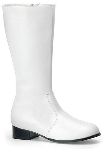 Kids White Costume Boots