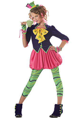 Tween Miss Mad Hatter Costume