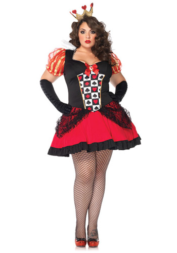 Plus Size Sexy Red Queen Costume