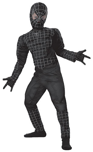 Kids Deluxe Black Spiderman 3 Costume