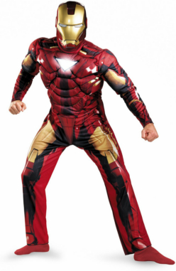 Iron Man 2 Movie - Iron Man Mark 6 Classic Muscle Adult Costume