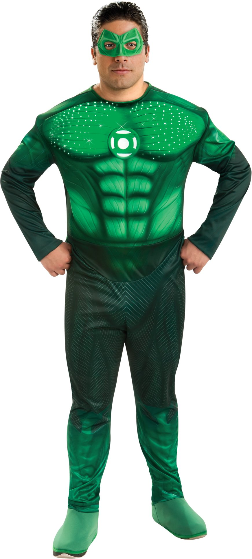 Green Lantern Movie - Deluxe Light Up Hal Jordan Plus Adult Cost