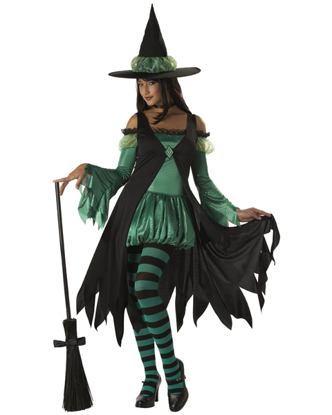 Teen Emerald Witch Costume