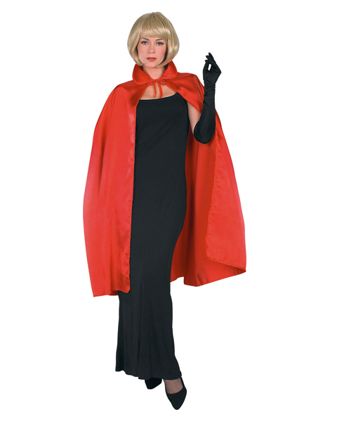 45 Inch Red Satin Cape Costume for Adults