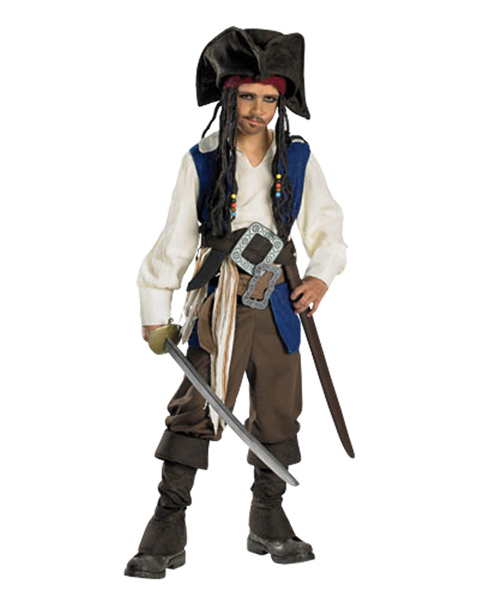 Deluxe Captain Jack Sparrow Costume for Teen