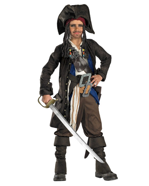Prestige Captain Jack Sparrow Costume for Teen