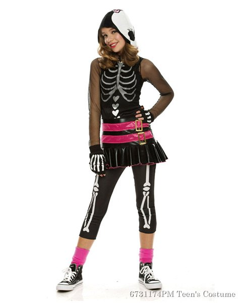Teen Dramarama Skelehearted Costume