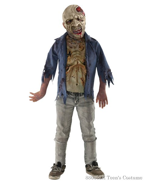 Teen The Walking Dead Deluxe Decomposed Zombie Costume