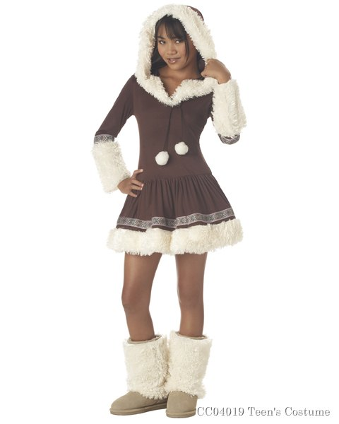 Tween Polar Princess Eskimo Costume