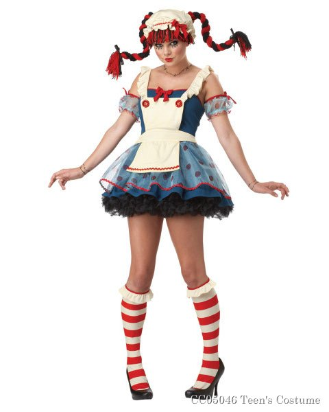 Teen Girl Rag Doll Costume
