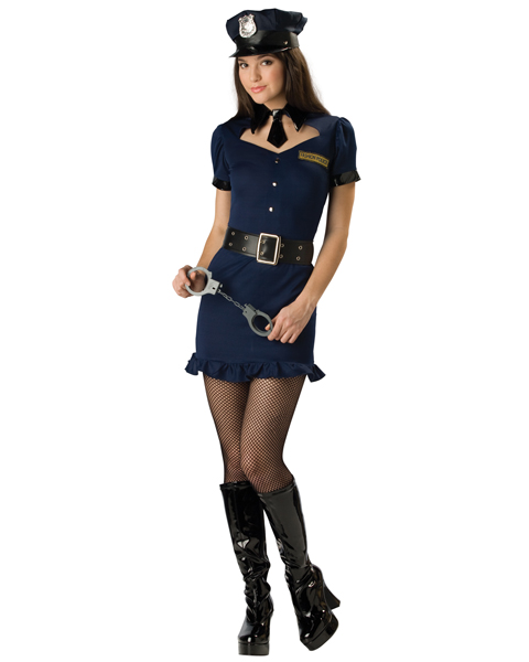 Teen Sassy Fashion Police Officer Costume